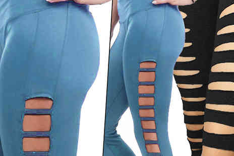 Bonicaro - Set of 2 Cut Out Detail Leggings - Save 80%