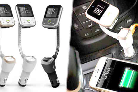 comxuk - Four in One Bluetooth FM Transmitter Kit Choose Three Colours - Save 79%