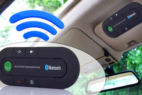 J & Y - Bluetooth Hands Free Multipoint Car Kit & Charger - Save 75%