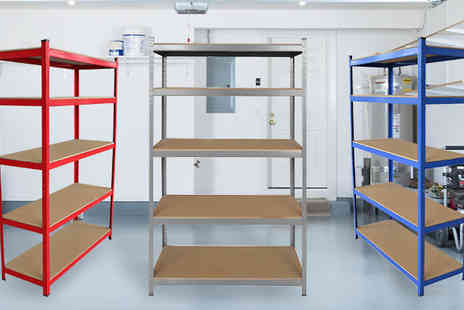 comxuk - 1.8M Boltless 5 Tier Shelving Unit Available in Three Colours - Save 83%