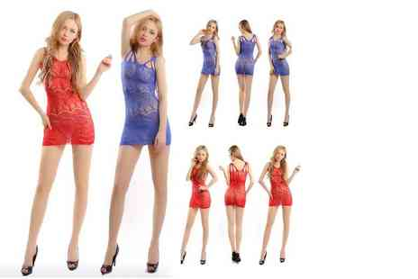 GameChanger Associates - Sexy mini dress lingerie in red or blue - Save 60%
