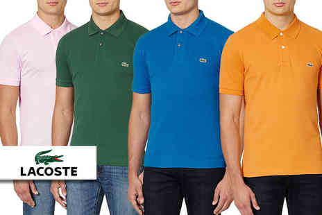 Deals Direct - Short sleeved Lacoste polo shirt choose from 10 colours - Save 43%