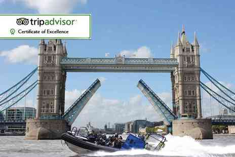 RIB Tours London - 25 or 50 minute boat thrill ride dash tour along the Thames for one - Save 15%