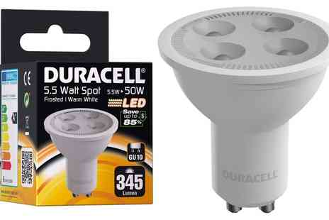 Groupon Goods Global GmbH - Duracell GU10 LED 5.5W Spotlight - Save 64%