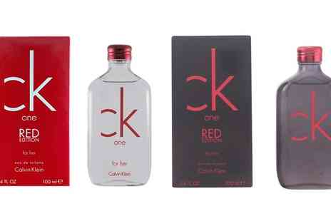Groupon Goods Global GmbH - Calvin Klein One Red Fragrance - Save 49%