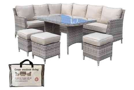 Groupon Goods Global GmbH - Edwina Corner Dining Sofa Set with Optional Cover - Save 30%