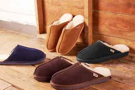 Groupon Goods Global GmbH - Mens Sheepskin Slippers - Save 72%
