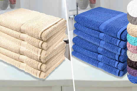 Groundlevel - Set of Three Super Jumbo Bath Sheets Choose from Nine Colours - Save 71%