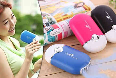 J & Y - Portable Handheld Air Cooler Choose from Two Colours - Save 67%