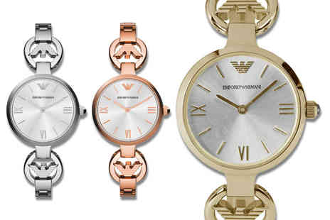 Gray Kingdom - Ladies Emporio Armani slim strap watch choose gold, rose gold or silver - Save 63%