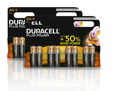 Zenith Wholesale - An eight pack of Duracell Plus Power AA batteries - Save 63%