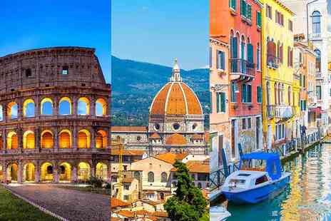 Crystal Travel - Six night Rome, Florence and Venice break including flights, breakfast and train transfers - Save 40%