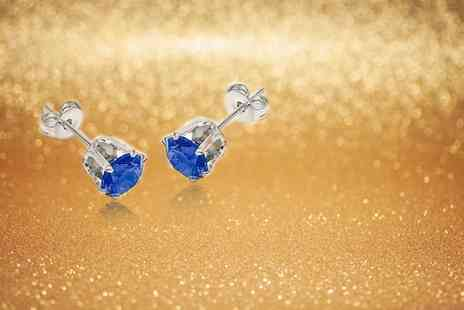 GameChanger Associates - Pair of simulated sapphire blue stud earrings - Save 96%