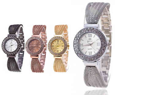 Fakurma - Ladies summer mesh watch Choose from four colours - Save 90%