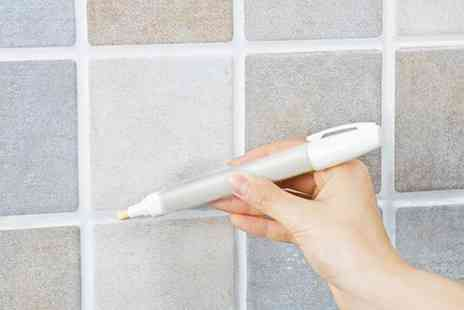 Groupon Goods Global GmbH - One, Two, Three or Four Whitening Grout and Tile Markers - Save 77%