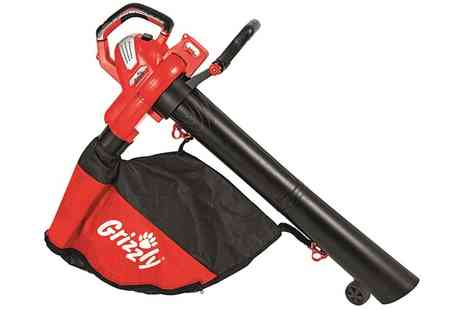 Groupon Goods Global GmbH - Grizzly 3000W Three in One Electric Leaf Blower and Vacuum - Save 10%