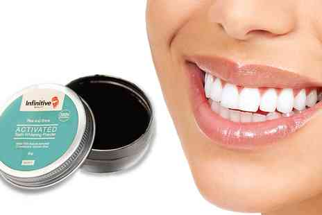 Groupon Goods Global GmbH - One, Two or Three Infinitive Beauty Rise and Shine Activated Teeth Whitening Charcoal Powders - Save 87%