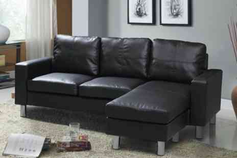 Groupon Goods Global GmbH - Relax Adjustable Corner Three Seater Sofa - Save 20%