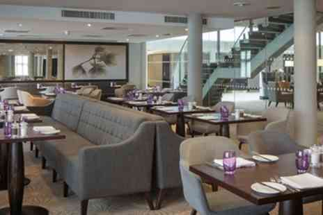 DoubleTree by Hilton - Two or Three Course Meal with Wine for Two or Four - Save 47%