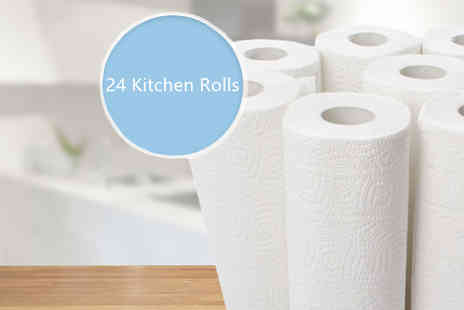 Goods Direct - 24 Pack of Kitchen Roll - Save 79%