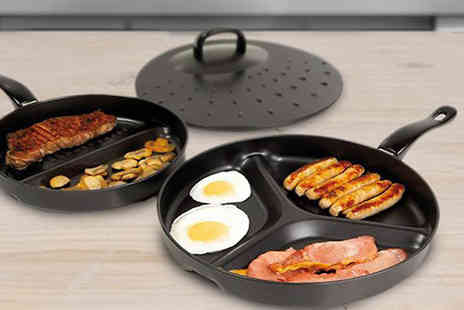 SA Products - Three Piece NonStick Divider Pan Set - Save 75%