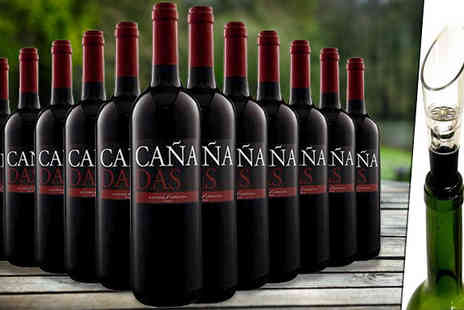 Karpe Deal SL - 12 or 16 Bottles of Spanish Canadas Red Tempranillo Wine - Save 57%