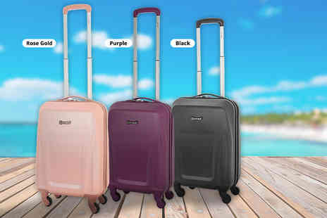 Luggage Travel Bags - Lightweight four wheel cabin luggage case choose from three colours - Save 43%