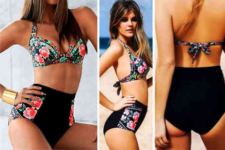 Bluebell Retail - Floral high waisted bikini - Save 60%