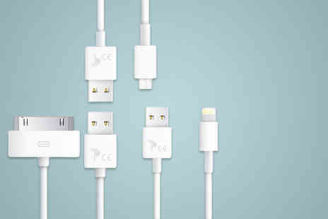 Planet of Accessories - Android and iPhone compatible three metre 30PIN, 8PIN or Micro USB charging cable - Save 80%