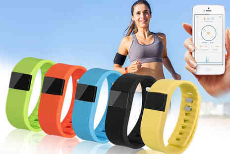 Ugoagogo - TW64 smart Bluetooth fitness bracelet choose from five colours - Save 80%