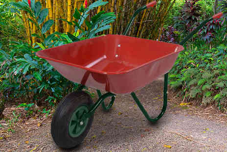 Plus Bee - 65 Litre heavy duty wheelbarrow - Save 79%