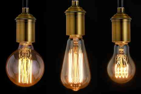Groupon Goods Global GmbH - Vintage Decorative Edison Filament Light Bulbs in Screw or Bayonet Fitting - Save 75%