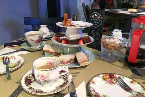 Wonderland Cafe - Mad Hatter untraditional afternoon tea for two people - Save 33%