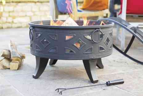 Groupon Goods Global GmbH - Campeche XL Steel Fire Pit with Grill - Save 38%