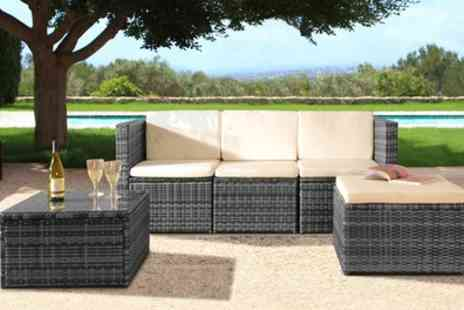 Groupon Goods Global GmbH - Mustique Rattan Effect Sofa Set with Optional Full Protective Cover - Save 52%