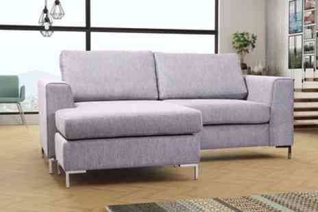 Groupon Goods Global GmbH - Plaza Left or Right Hand Corner Sofa with Footstool - Save 51%