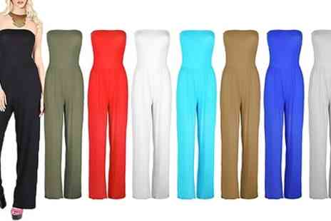 Groupon Goods Global GmbH - Boobtube Neckline Sleeveless Jumpsuit - Save 0%