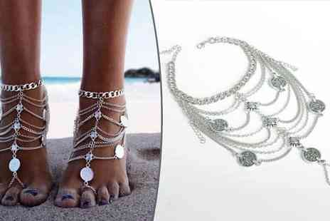 Jewleo - Silver Plated Anklet - Save 80%