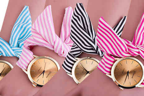Jewleo - Quartz Ribbon Watch Available in Four Colours - Save 80%