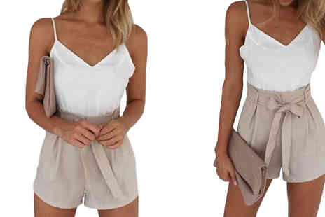 Bazaar me - Elegant Summer Playsuit Available in Four Sizes - Save 80%