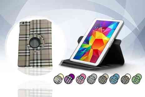 Planet of Accessories - Checked iPad case and stand with stylus - Save 73%