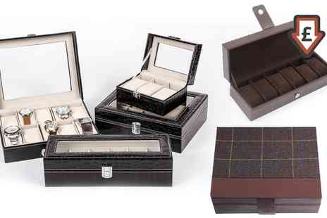 Groupon Goods Global GmbH - Six or Ten Piece Watch Box in Choice of Style - Save 77%