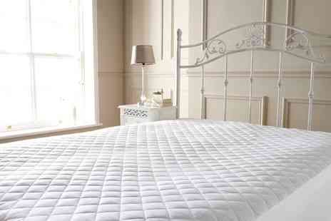 Groupon Goods Global GmbH - Quilted Egyptian Cotton Mattress Protector - Save 76%