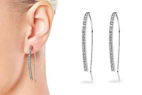 Groupon Goods Global GmbH - Philip Jones Elara Earrings with Crystals from Swarovski - Save 75%