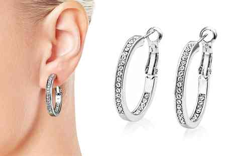 Groupon Goods Global GmbH - One or Two Pairs of Double Sided Hoop Earrings - Save 75%