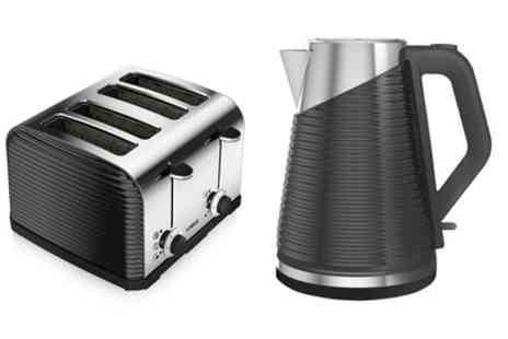 Groupon Goods Global GmbH - Tower Kettle with Two Slice Toaster or with Four Slice Toaster Include Free Delivery - Save 45%