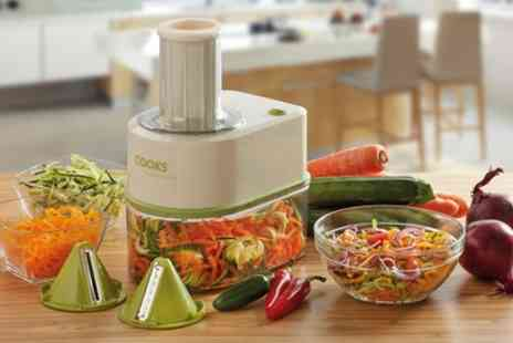 Groupon Goods Global GmbH - Cooks Professional Electric Spiralizer with an Optional Cookbook - Save 65%