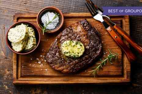 1855 Restaurant - Steak, Chips and Glass of Wine for Two or Four - Save 56%