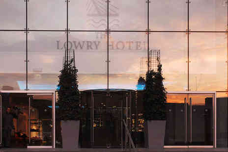The Lowry Hotel - Five Star Riverside Luxury Stay For Two with up to £150 of Spa Vouchers - Save 0%