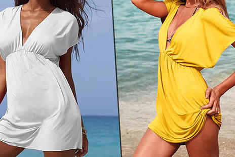 Bonicaro Design - Kaftan Dress Yellow or White - Save 77%